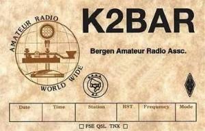 K2BAR QSL Card